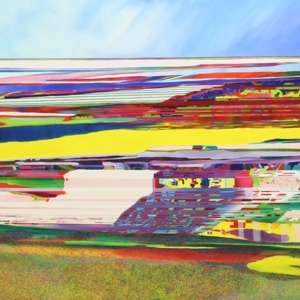 Landscape Painting of Glitch No.7, Oil on canvas, 250x175cm
